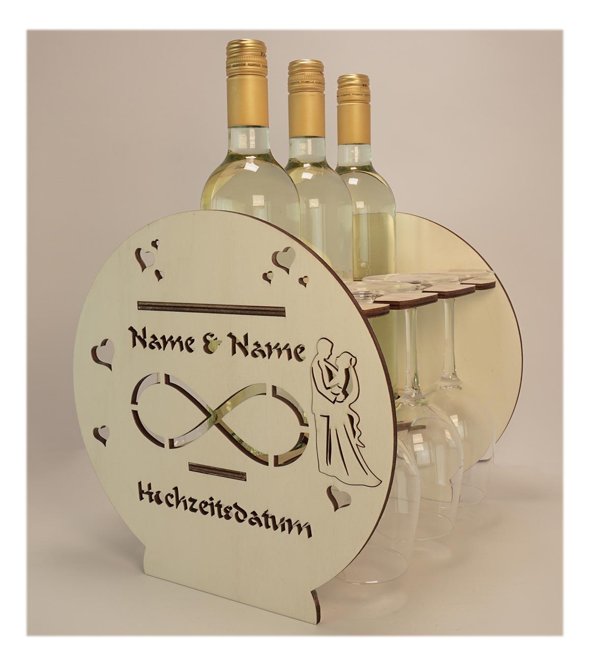 Holz Weinflaschenhalter Infinity Brautpaar Zur Hochzeit