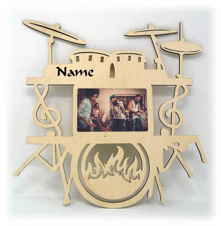 Musik Bilderrahmen individuell mit Namen personalisiert ...