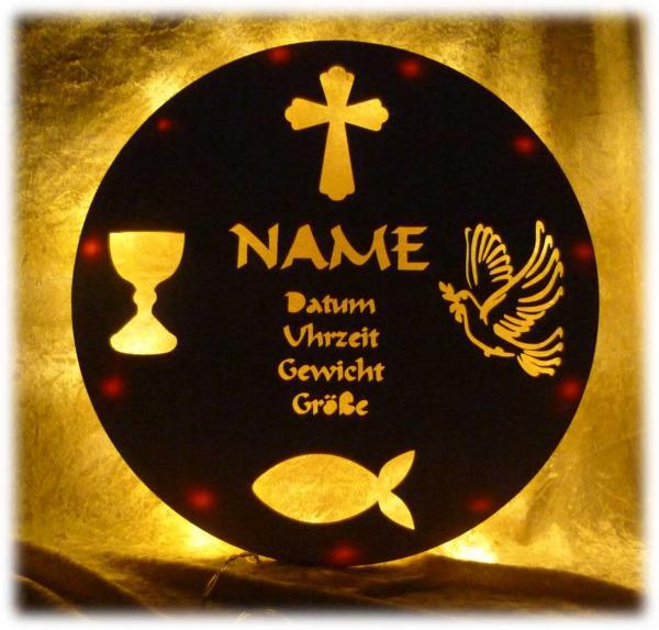 Teller zur Taufe Geschenkidee
