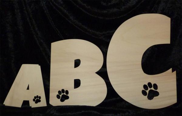 Hund Buchstaben Hunde Pfote