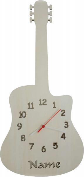Gitarre Geschenkidee Wanduhr Uhr