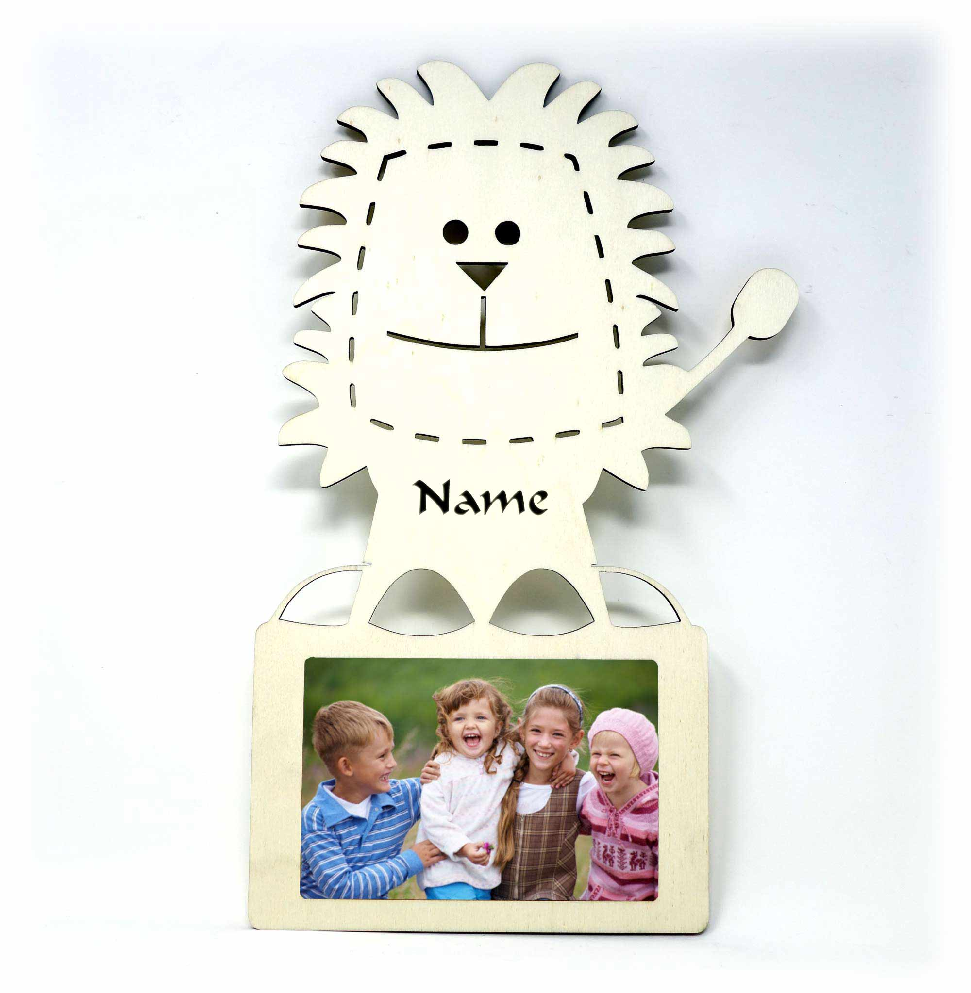 Geschenkidee Löwe Bilderrahmen individuell mit Namen personalisiert ...