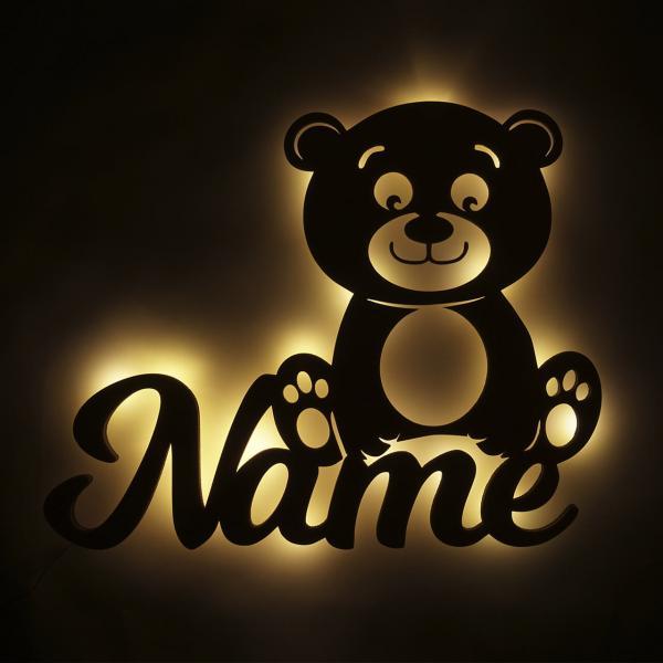 Teddy Bär Nachtlicht mit Namen