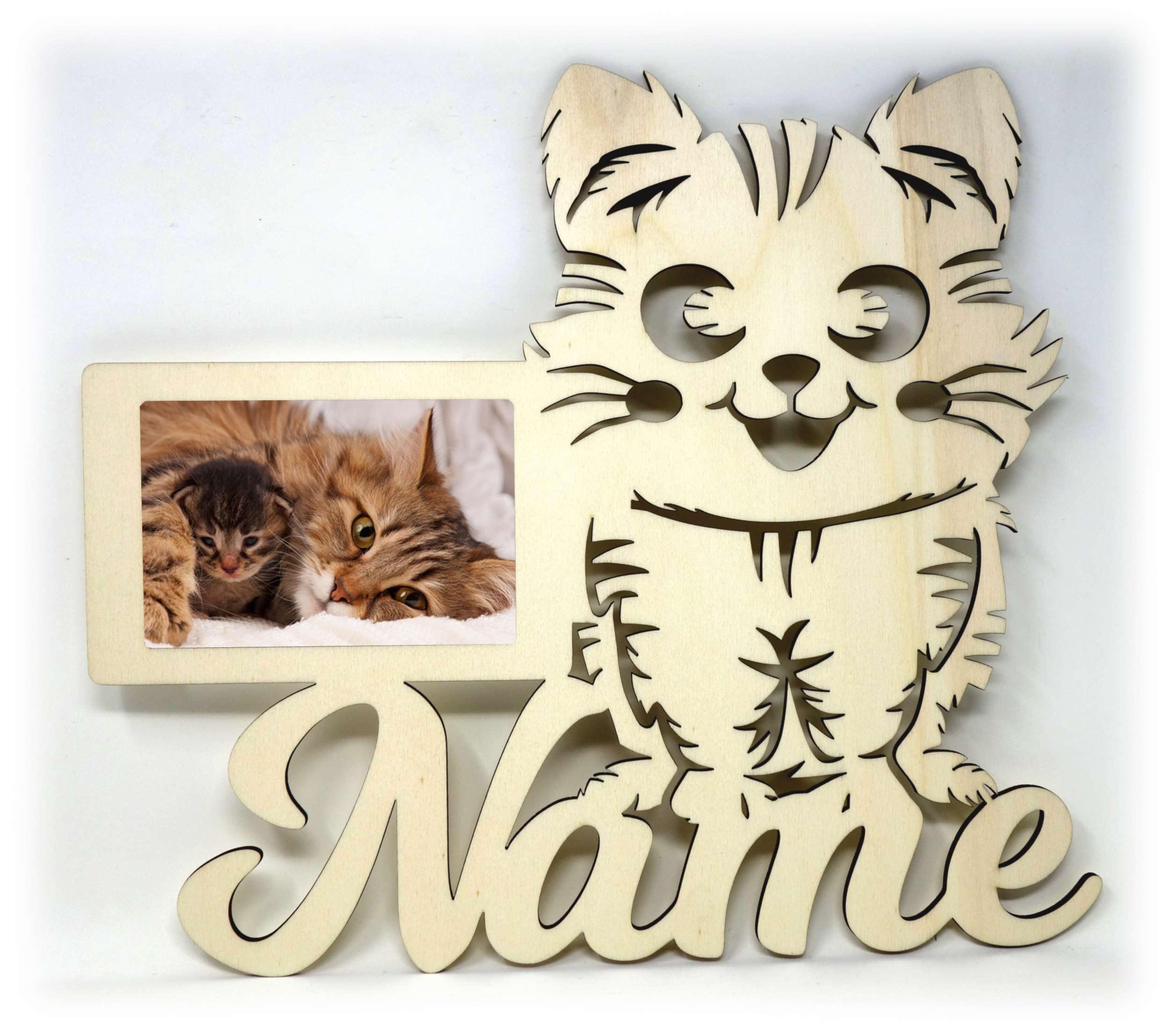 Geschenkidee Katzen Bilderrahmen individuell mit Namen ...