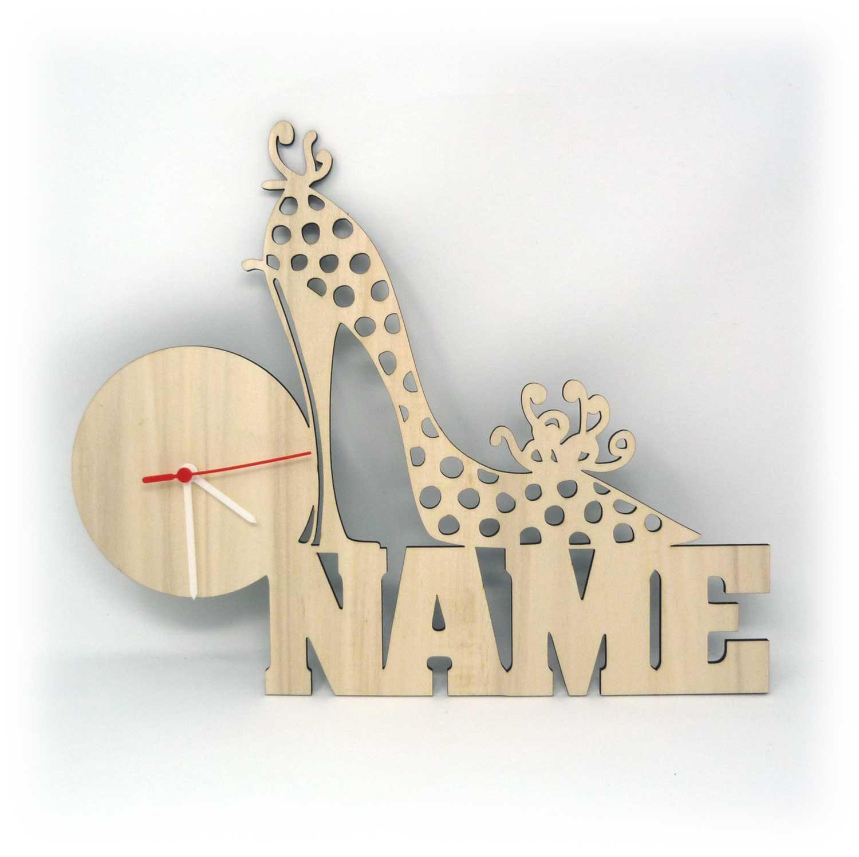 Schuhe Deko Uhr Geschenk Frauen Damen Geschenke Name