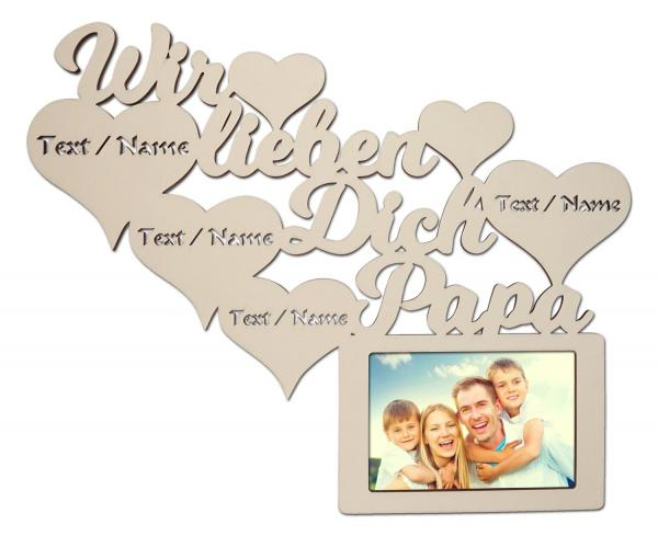 Bilderrahmen Geschenke Wir Lieben Dich Papa Mit Namen
