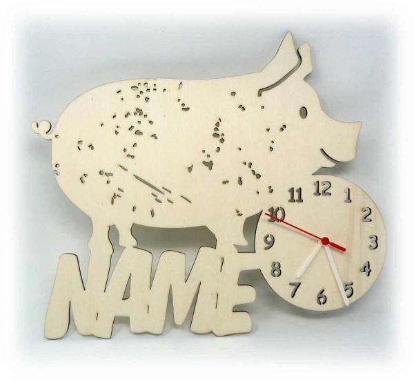 Uhr Schweine Geschenkidee