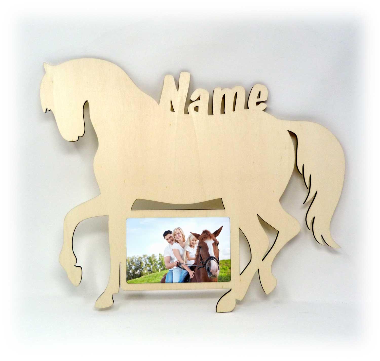 Pferdefreunde Pferd Bilderrahmen individuell mit Namen ...