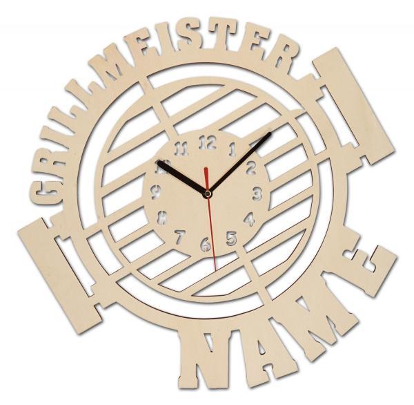 Grillmeister Wand Uhr Geschenk für Männer personalisiert