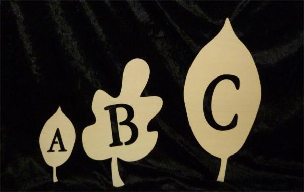 Holz Buchstaben zum basteln Natur