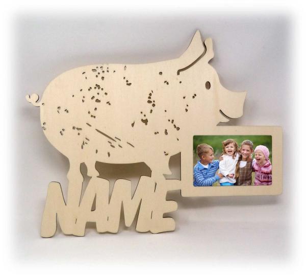 Holz Schwein Geschenke mit Namen