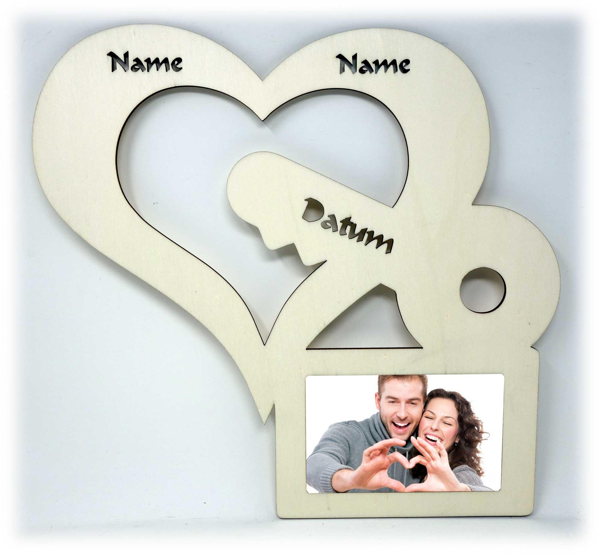 Besondere Liebe Herz Bilderrahmen individuell mit Namen ...