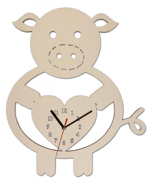 Schweinchen Uhr Geschenk
