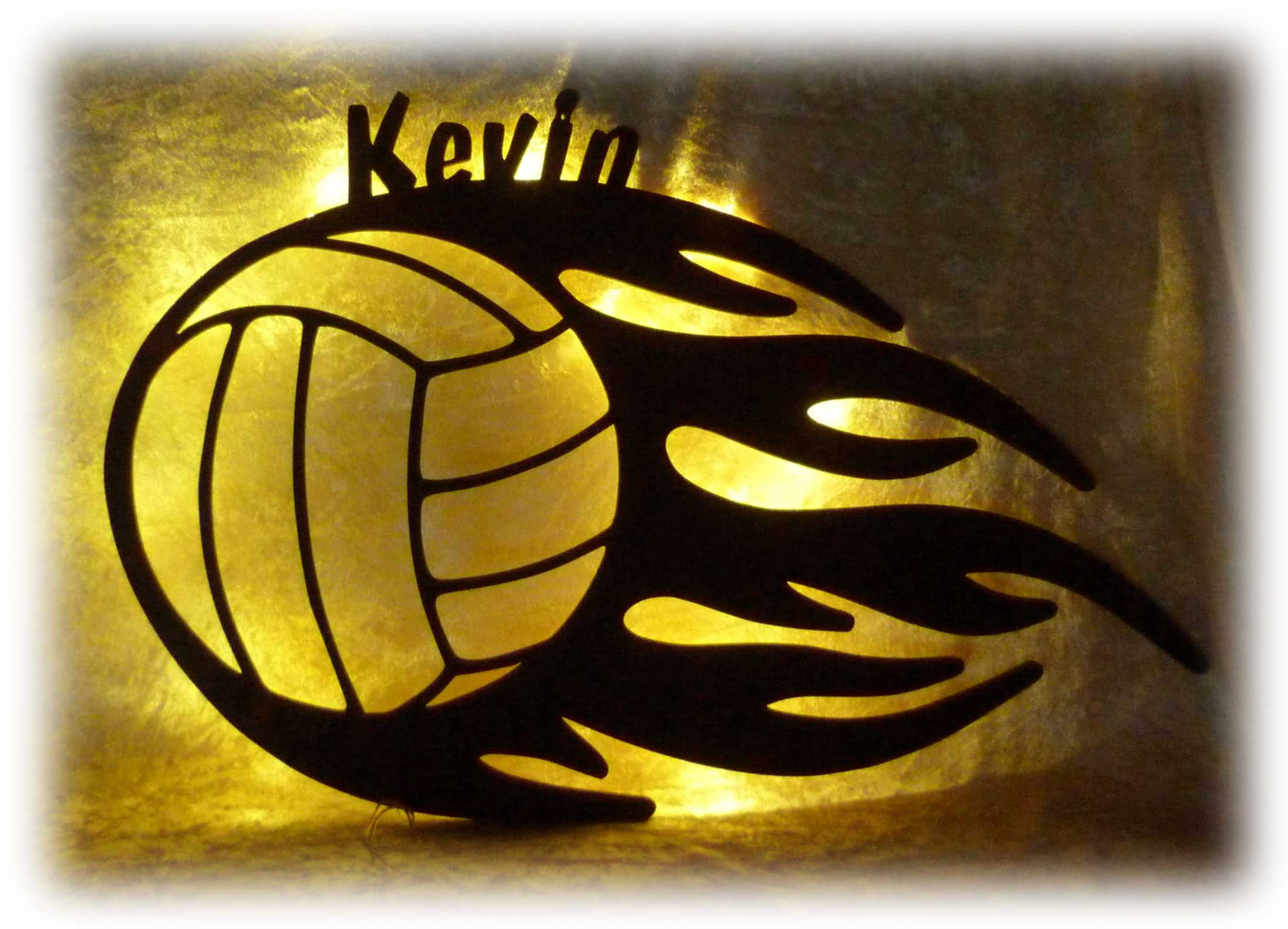 Led Volleyball Lampe Geschenk Mit Deinem Namen