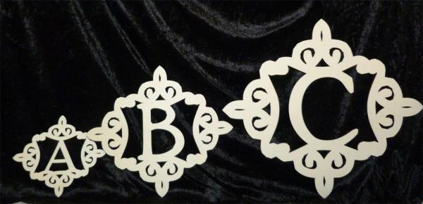 Ornament Buchstaben Deko