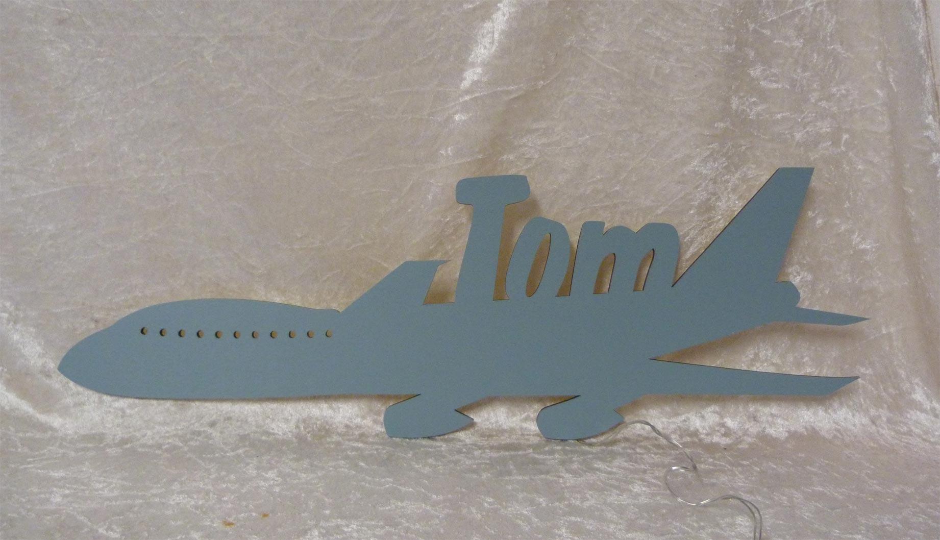 LED Flugzeug Deko Licht mit deinem Namen