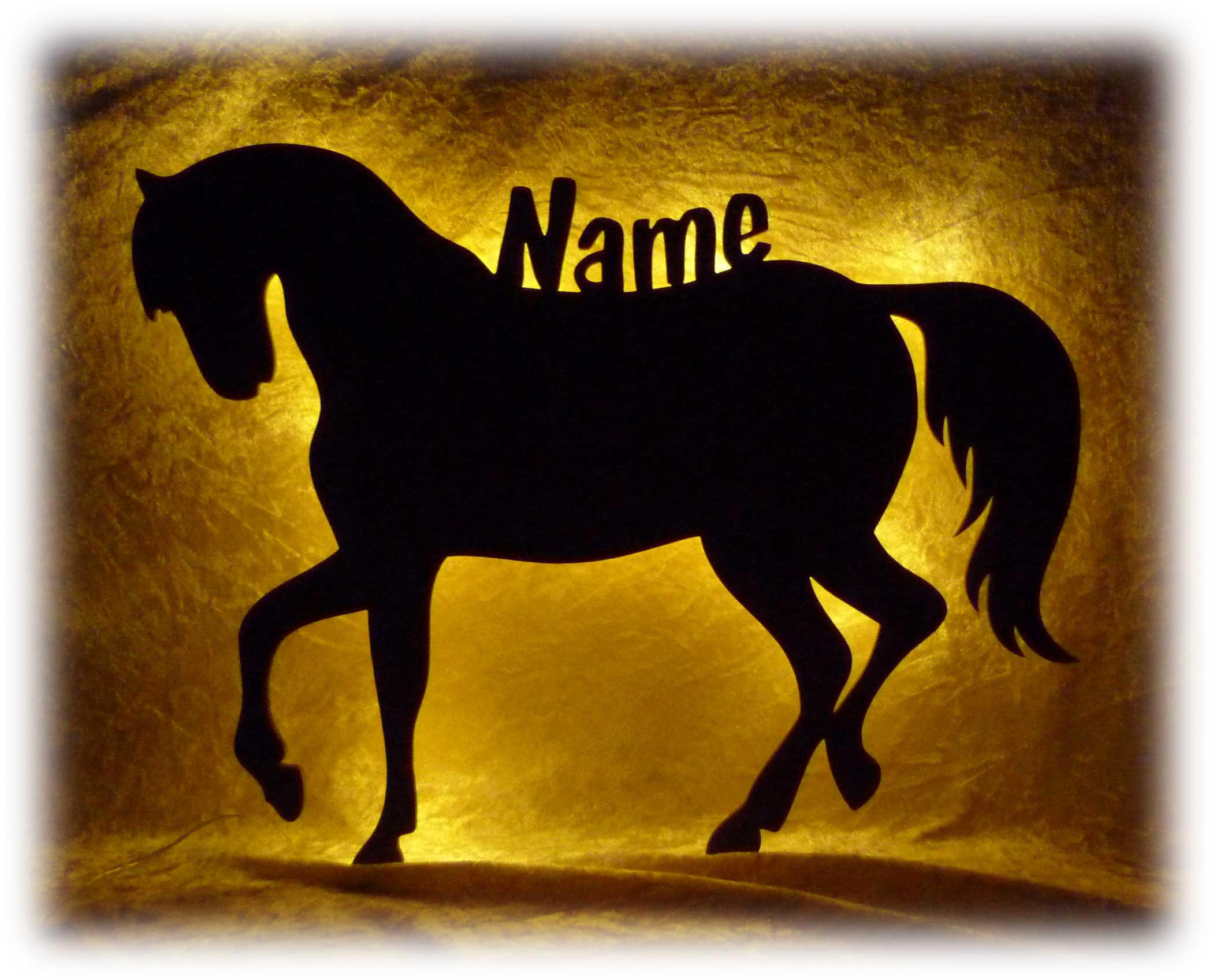 led pferd nachtlicht lampe mit namen individuell. Black Bedroom Furniture Sets. Home Design Ideas