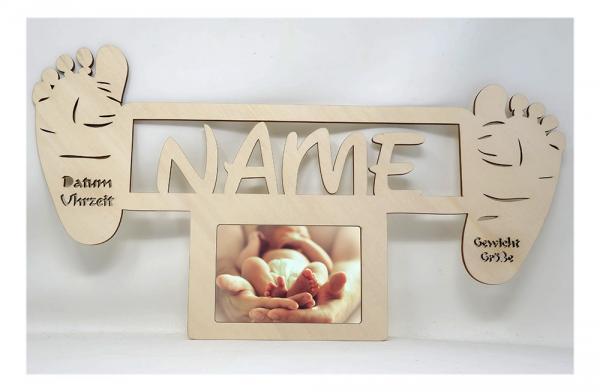 Baby Fußabdruck Geschenke Bilderrahmen