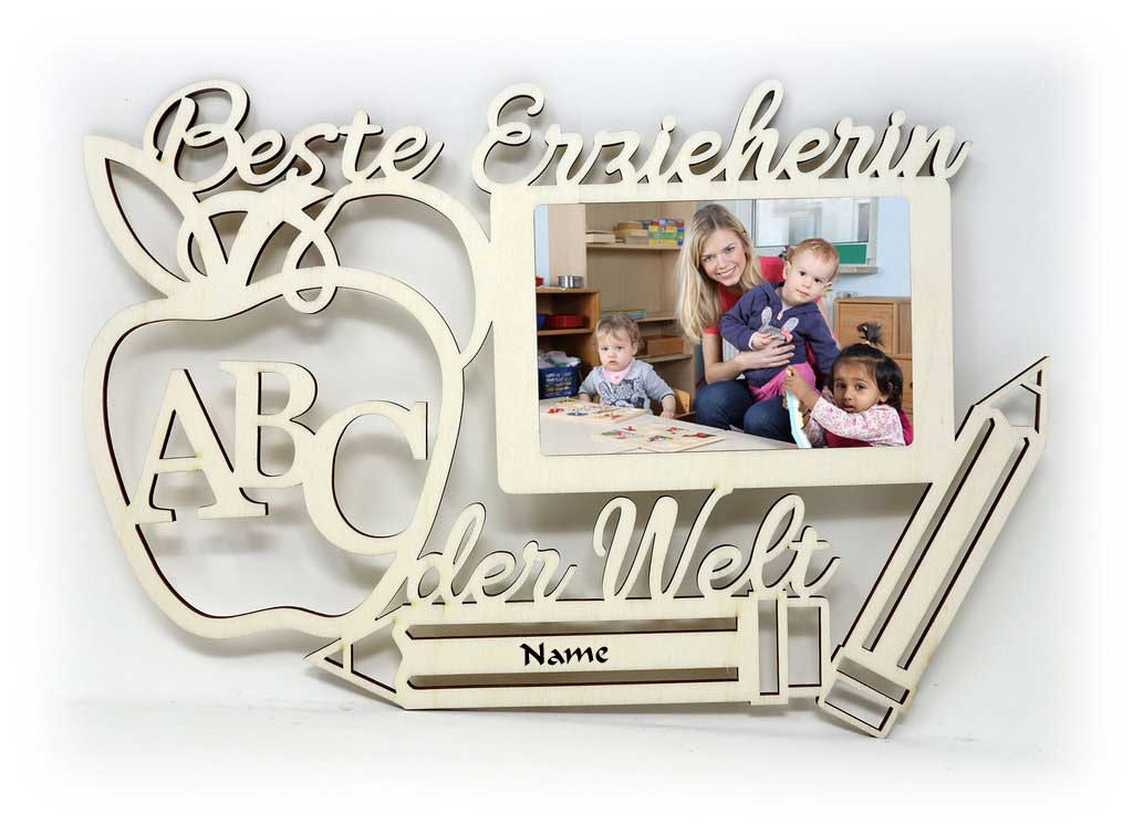 KiTa Erzieherin Bilderrahmen individuell mit Namen personalisiert ...