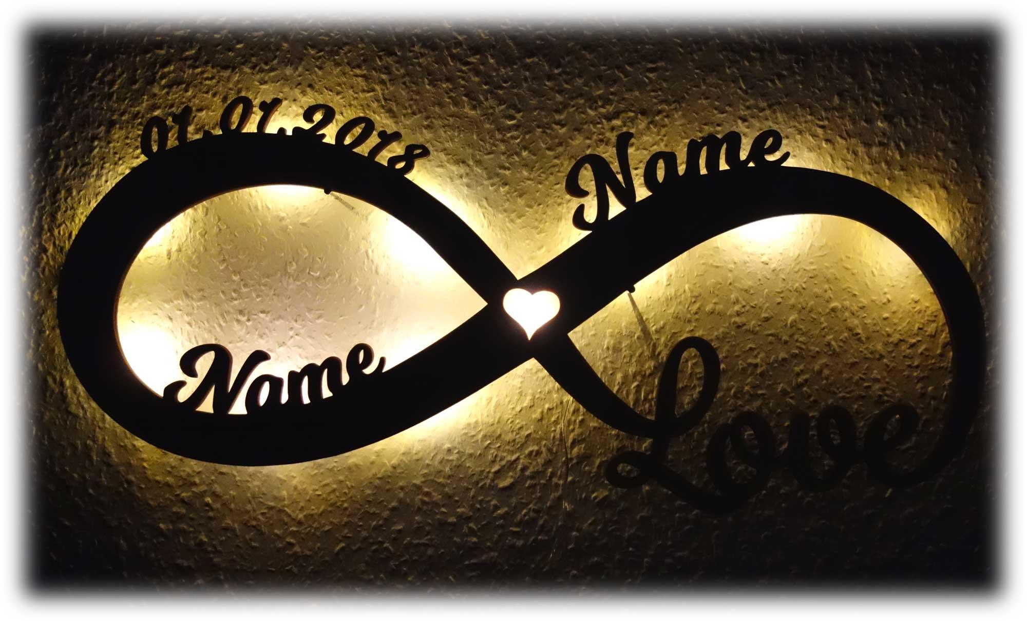 Hochzeit Hochzeitspaar Liebeslicht Deko Geschenke Licht Mit Namen