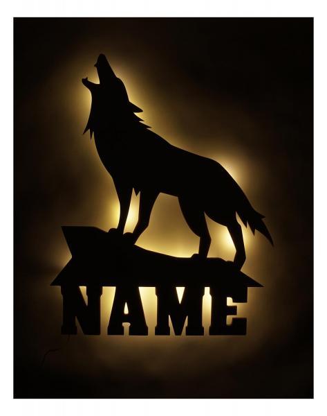 Geschenk Wolf Lampe