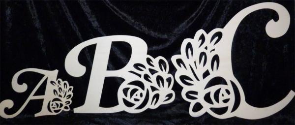 Buchstaben zum basteln Blume
