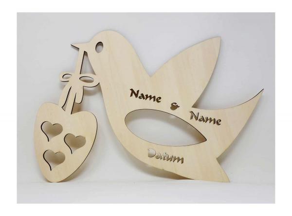 Herz Taube Schild Personalisiert Mit Namen I Das Perfekte