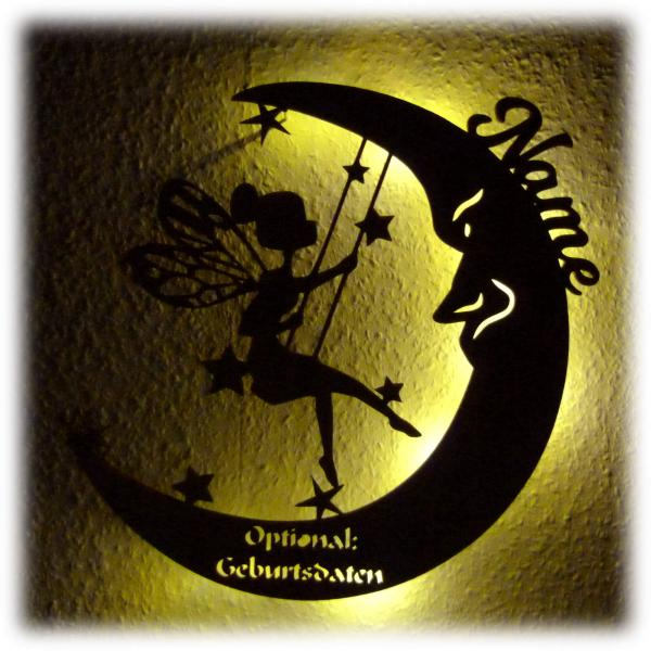 Fee Mond Nachtlicht Lampe Geschenk