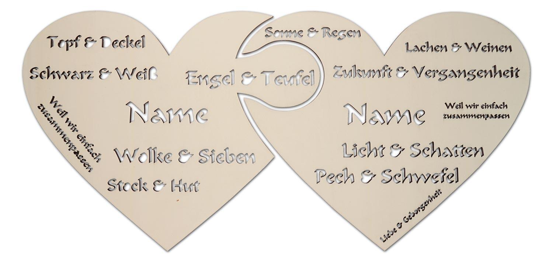Holz Puzzle Herzen Mit Sprüche Liebeserklärung Geschenkidee